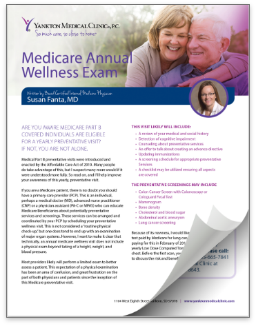 thumbnail of Medicare Annual Wellness Exam